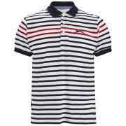 Slazenger Men's Pearce Striped Polo Shirt - White/Navy/Red