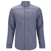 Original Penguin Men's Long Sleeve Oxford Shirt - Patriot Blue