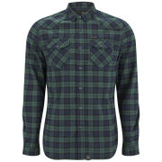 Firetrap Men's Hank Long Sleeve Shirt - Peacoat