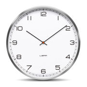 LEFF Amsterdam One 55cm Wall Clock - Stainless Steel White Arabic