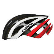 Carrera Radius Road Helmet Black/White/Red