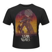 Star Wars Men's T-Shirt - Sunset Poster (Black)