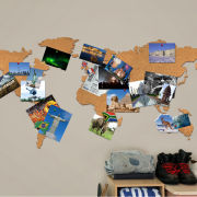 Cork Board World Travel Map