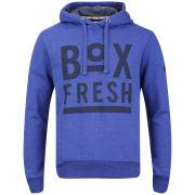 Boxfresh Men's Hagro Graphic Print Hoody - Blue Marl Fleck