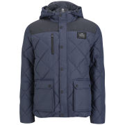 Jack and Jones Men's Veto Quilted Hooded Jacket - Navy
