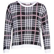 Moku Women's Checked Knit Jumper - Black