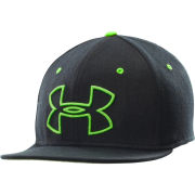 Under Armour Mens Ua Front Big Logo Hat - Black/Gecko Green