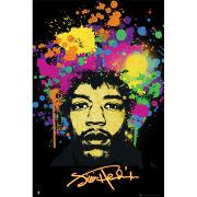 Jimi Hendrix Splatters - Maxi Poster - 61 x 91.5cm