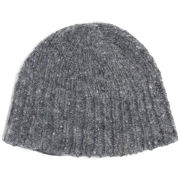 Nigel Cabourn Men's WW1 5 Gauge Lambswool Rib Beanie - Grey