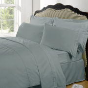 100% Egyptian Cotton Plain Dyed Duvet Cover and Pillowcases - Duck Egg