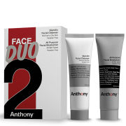 Anthony Logistics for Men Anthony Face Duo (Glycolic Facial Cleanser and All Purpose Facial Moisturizer)