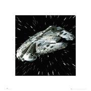 Star Wars Millennium Falcon - 40 x 40cm Print