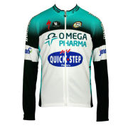 Omega Pharma QuickStep Team Replica Technical Jacket - Black 2014