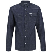 Soul Star Men's Zinc New Denim Shirt - Blue