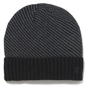 French Connection Luke Birdseye Stitch Hat - Black/Charcoal