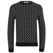 Carven Men's Micro Pattern Knit Jumper - Noir
