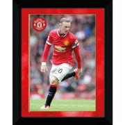 Manchester United Rooney 14/15 - Framed Photograhic - 16x12