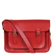Cambridge Satchel Company 15 Inch Leather Satchel - Red