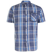 Brave Soul Men's Kalmus Short Sleeve Checked Shirt - Blue