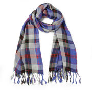 Impulse Women's Checked Scarf - Blue