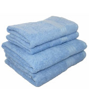Restmor 100% Egyptian Cotton 4 Piece Supreme Towel Bale Set - Cobalt Blue