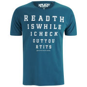 Xplicit Men's Read This T-Shirt - Ocean Blue