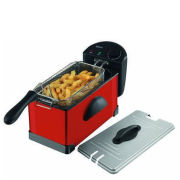 Elgento 3 Litre Stainless Steel Fryer - Red