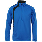 Reebok Men's Half Zip Long Sleeved T-Shirt  - Blue