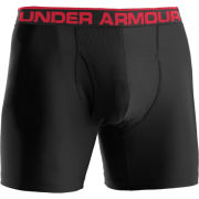 Under Armour Men's Original Boxer Jock 6 Inch Briefs - Black/Red