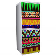 Aztec Two-Door Fridge or Freezer Vinyl Wrap