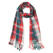 Impulse Women's Checked Scarf - Green/Red