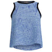 Neon Rose Women's Zig Zag Drop Hem Vest - Blue