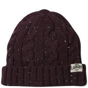 Tokyo Laundry Men's Cahir Nepp Cable Beanie - Oxblood