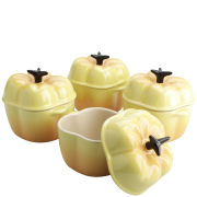 Le Creuset Set of 4 Mini Yellow Bell Pepper Casserole Dishes
