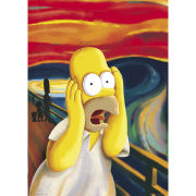 The Simpsons Scream - Giant Poster - 100 x 140cm