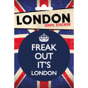 London Freak Out - Vinyl Sticker - 10 x 15cm
