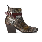 Vivienne Westwood Red Label Women's Cuban Suede Heeled Ankle Boots - Gold