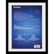 Star Wars Destroyer Blueprint - 30x40 Collector Prints
