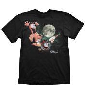 Worms Men's T-Shirt - Three Worms Moon - Black