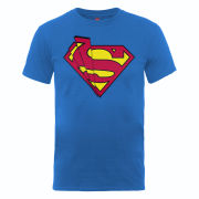 DC Comics Men's T-Shirt - Superman Shards Logo - Royal Blue