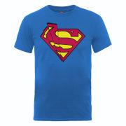 DC Comics Men's T-Shirt Superman Shards Logo - Royal Blue