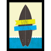 Gone Surfing - Framed 30x40cm Print