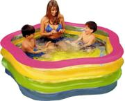 Intex Wetset Summer Colours Swim Centre Pool (73x71 Inch)