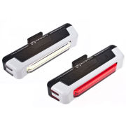 Moon Comet USB  Front & Rear Light Set White