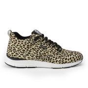 Gourmet Men's 35 Lite Leopard Print Suede Trainers - Snow Leopard White