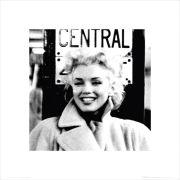 Marilyn Monroe Grand Central - 40 x 40cm Print