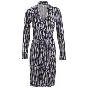 Diane von Furstenberg Women's New Jeanne Wrap Dress - Glass Weave Purple