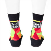 Santini Cinelli Chrome Cotton Socks - Orange/Black