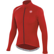 Castelli Puro Long Sleeve Full Zip Jersey - Red