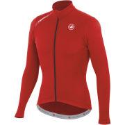 Castelli Puro Long Sleeve Full Zip Jersey - Red